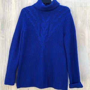 Lands End Turtle Beck Blue Sweater S